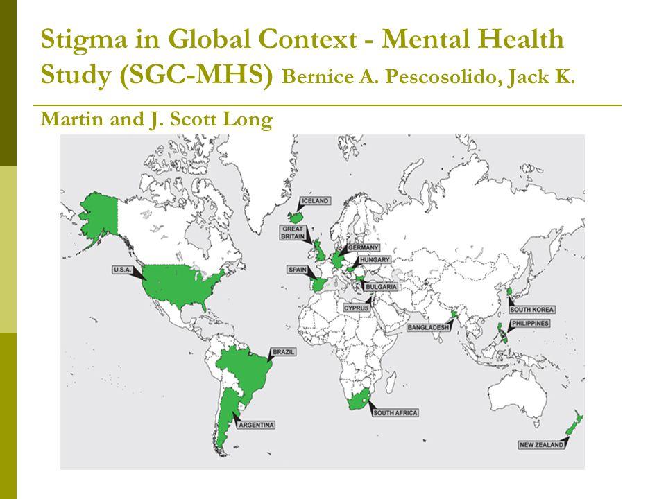 SGC-MHS vizsgálat  Nagyon sok különbség van az egyes országok közt.