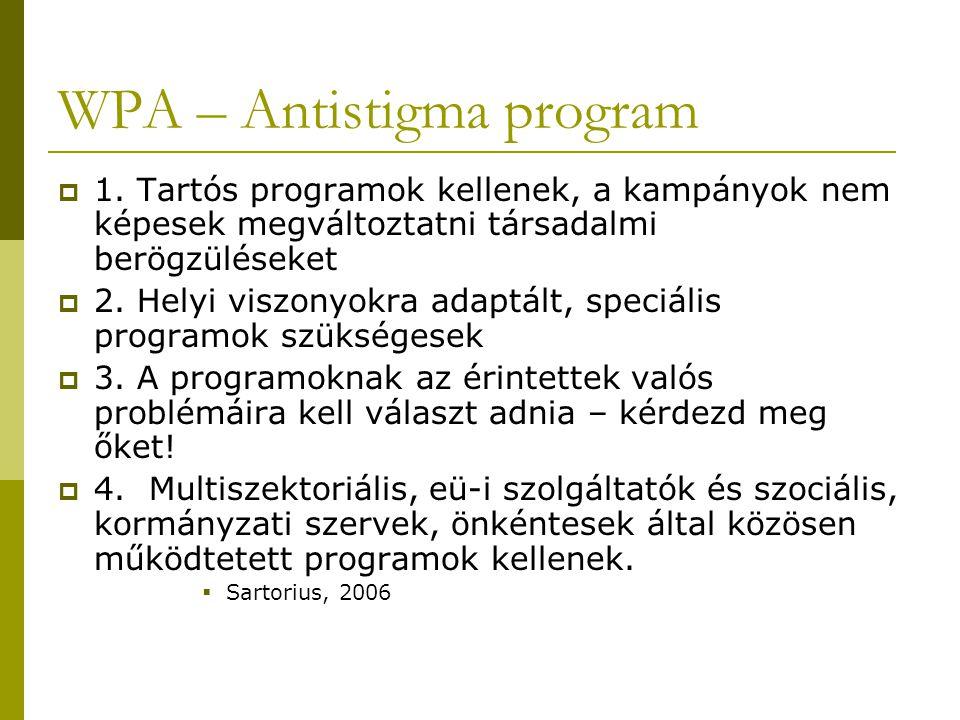 WPA – Antistigma program  5.