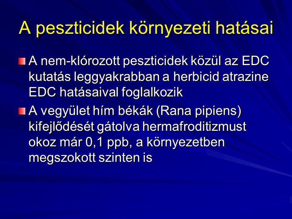 A peszticidek környezeti hatásai Tiokarbamátok - amelyek etiléntiokarbamáttá (pl.