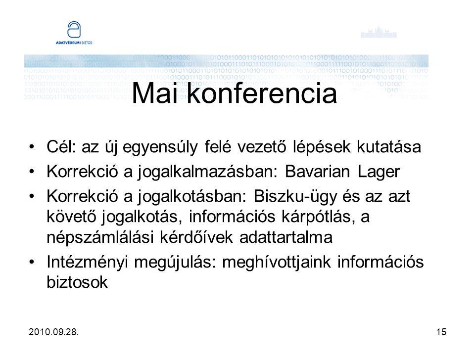 2010.09.28.16 Köszönöm a figyelmet.Adatvédelmi Biztos Irodája 1051 Budapest, Nádor u.