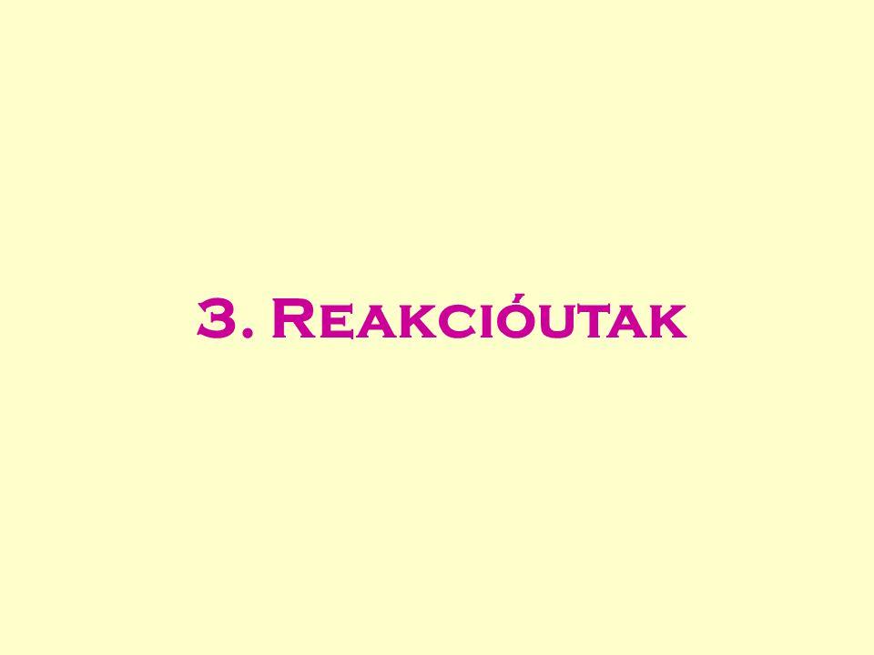 CH 3 + C 3 H 7 => C 4 H 8 + H 2 reakciósebesség= r 1 H-atomok száma: 3 7 8 2 H-atomok száma a bal oldalon: 10 H-atomok fluxusa az egyik anyagfajtáról a másikra: CH 3  C 3 H 7 0 CH 3  C 4 H 8 3/10*8*r 1 = 2.4*r 1 CH 3  H 2 3/10*2*r 1 = 0.6*r 1 C 3 H 7  CH 3 0 C 3 H 7  C 4 H 8 7/10*8*r 1 = 5.6*r 1 C 3 H 7  H 2 7/10*2*r 1 = 1.4*r 1 CH 3 C4H8C4H8 H2H2 C3H7C3H7 Elemfluxusok