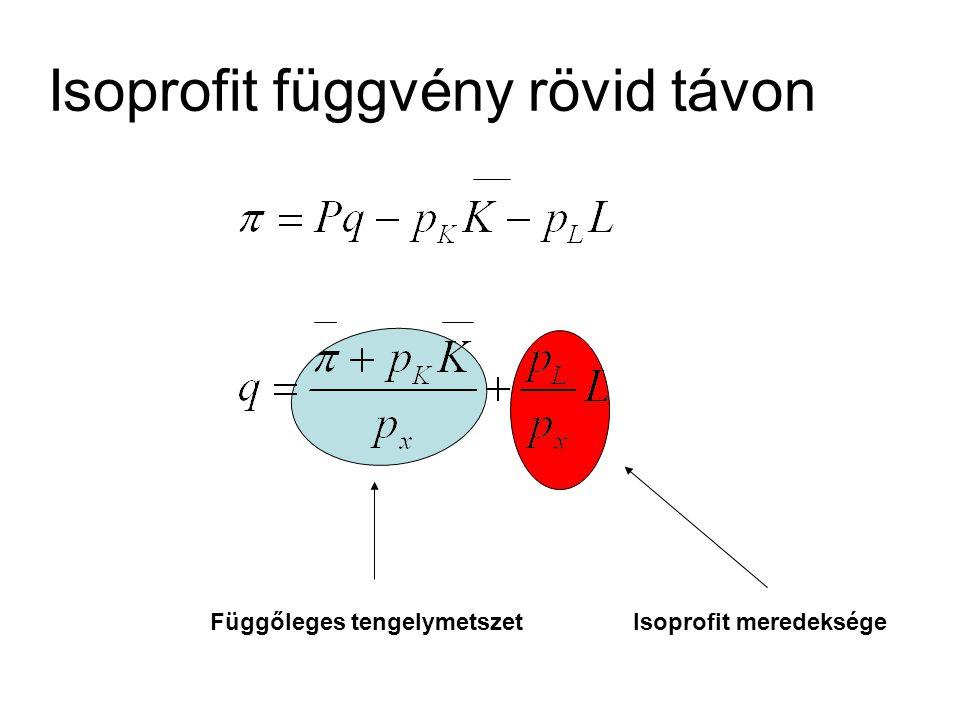 L q Q=f(L) Termelési függvény