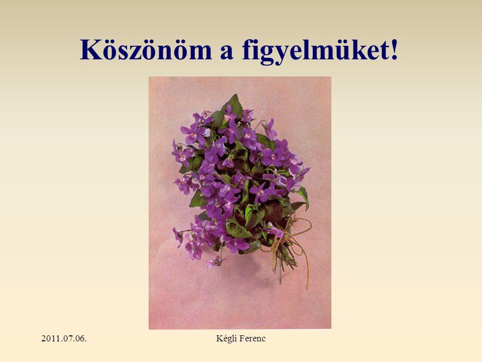2011.07.06.Kégli Ferenc Forrás: infovilág.hu