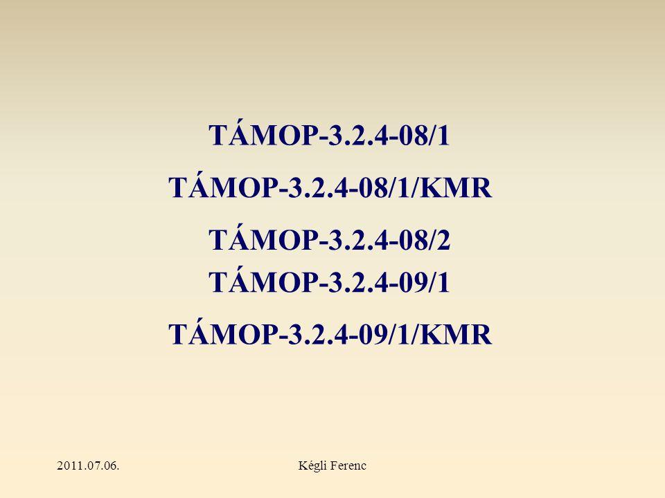 2011.07.06.Kégli Ferenc Kötelező tevékenységek  elektronikus katalógusok megyei, kistérségi szinten  kétnyelvű interaktív honlapok, portálok