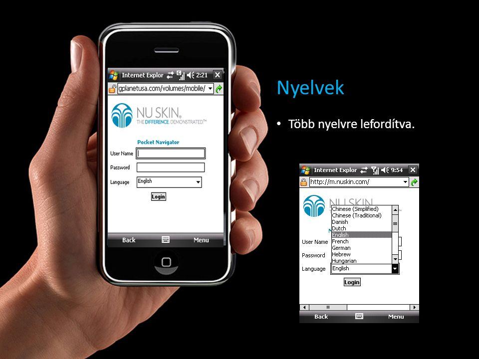 Gyors hozzáférés a fontos navigátor információkhoz forgalom alsóvonal megrendelések jutalékok üzenetek