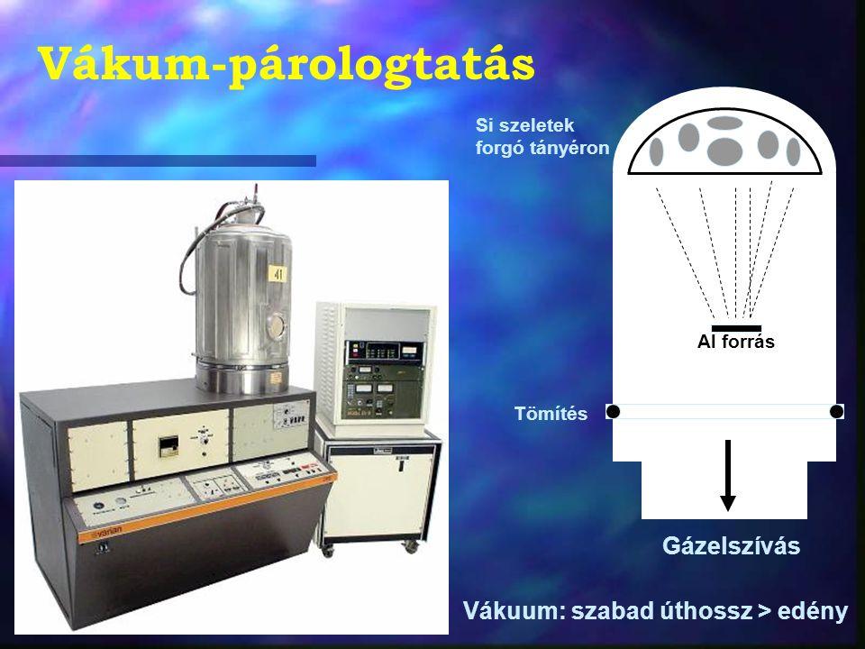 Litográfiai eljárások Ezek segítségével hozzák létre a szilicium dioxidban a szükséges mintázatot.
