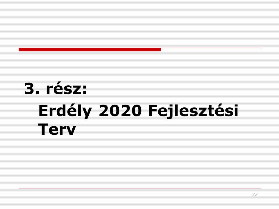 23 Erdély 2020 Fejlesztési Terv I.