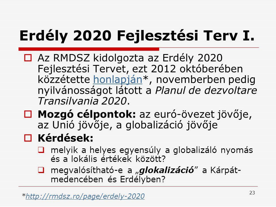 24 24 Erdély 2020 Fejlesztési Terv II.