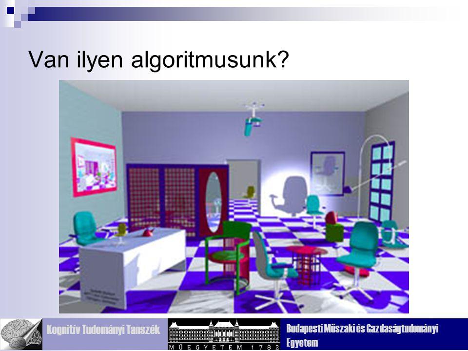 Kognitív Tudományi Tanszék Budapesti Műszaki és Gazdaságtudományi Egyetem Van ilyen algoritmusunk?