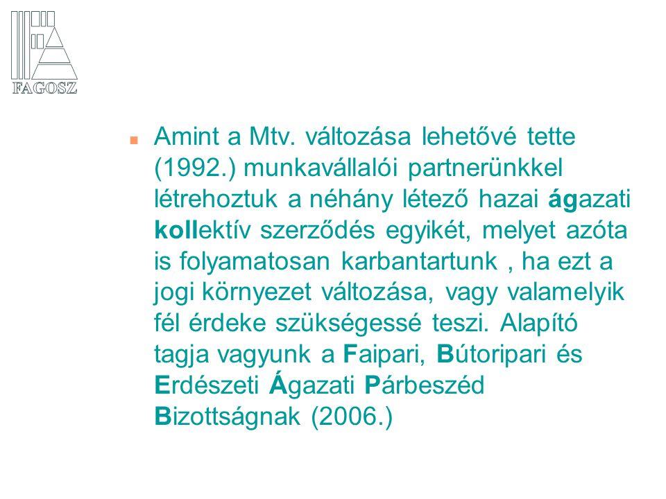 n A hatékony kommunikáció érdekében amint lehetett (1996.) megnyitottuk honlapunkat, mely mára számos szolgáltatást nyújt, köztük a legújabb a FATÁJ-online hetilap.
