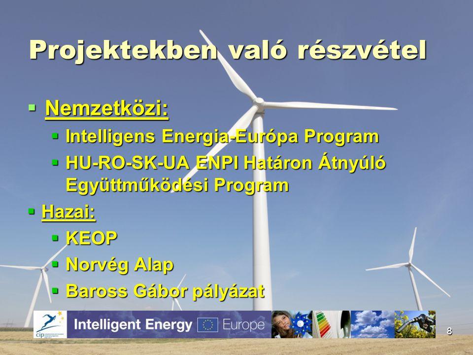 Jövőbeli tervek  Energia magazin kiadása,  Energia- díj alapítása az Észak-Alföldi régió gazdasági szereplői javára,  Energia- Alap létrehozása: forrásteremtés és – elosztás.