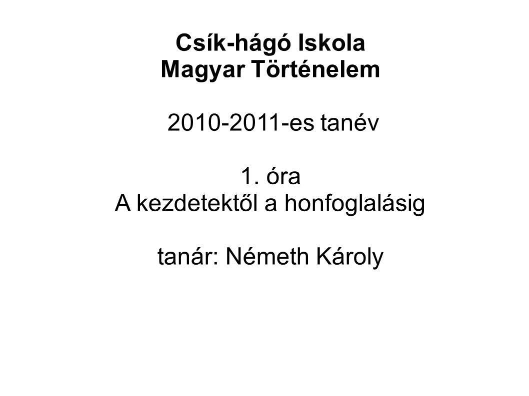 Felhasznált anyag: főleg Wikipedia cikkek: http://hu.wikipedia.org/wiki/Magyar_őstörténet http://en.wikipedia.org/wiki/Hungarian_prehistory Vigyázat.