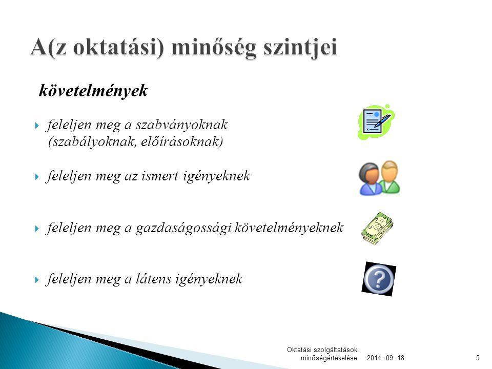 2014. 09. 18. Oktatási szolgáltatások minőségértékelése6