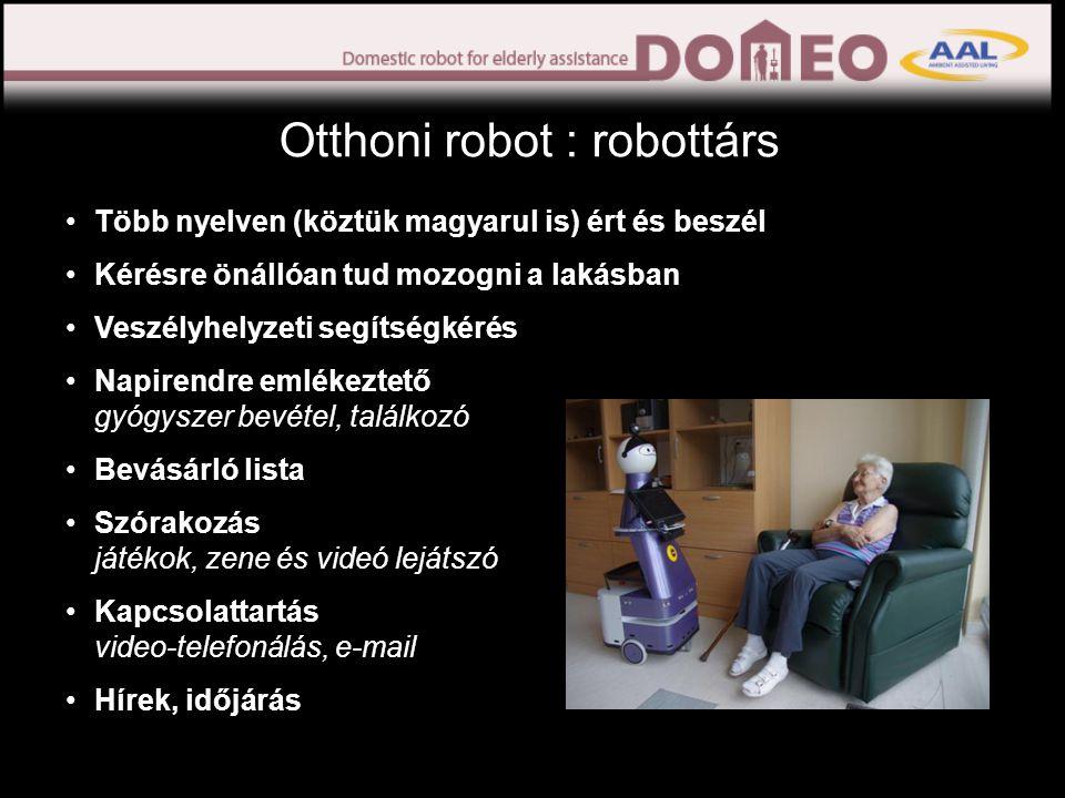 A Kompaï robot részei Kamera Bolygó kerék Érintőképernyő Kikapcsoló gomb Érzékelők Motor hajtotta kerék Központi egység SOS gomb Tálca