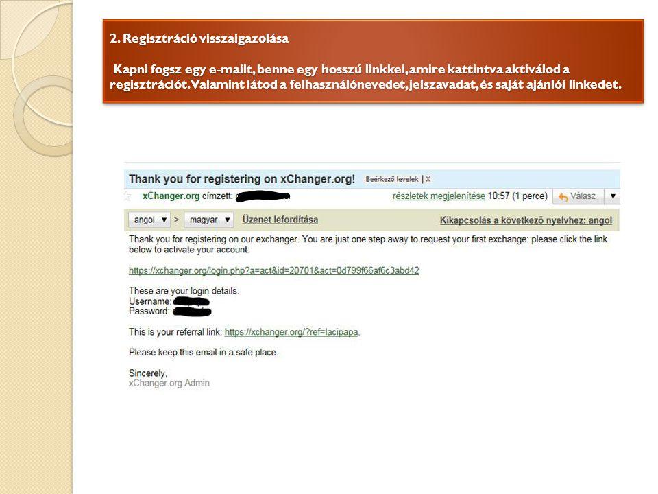 3.Fiók hitelesítése Lépj be a fiókodba a felhasználóneveddel és jelszavaddal.