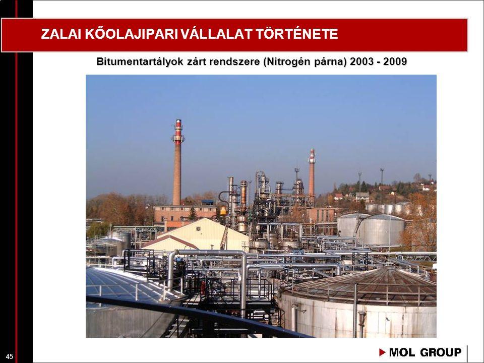 46 ZALAI KŐOLAJIPARI VÁLLALAT TÖRTÉNETE 2006 Füstgázmosó technológiai berendezések