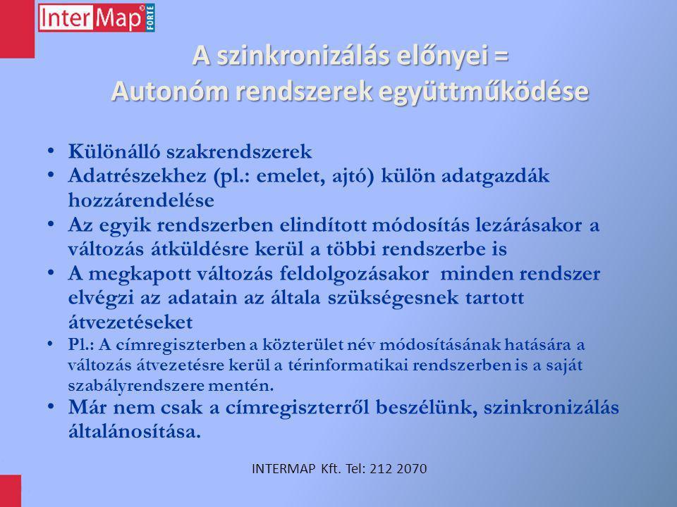 A szinkronizálás további előnyei INTERMAP Kft.