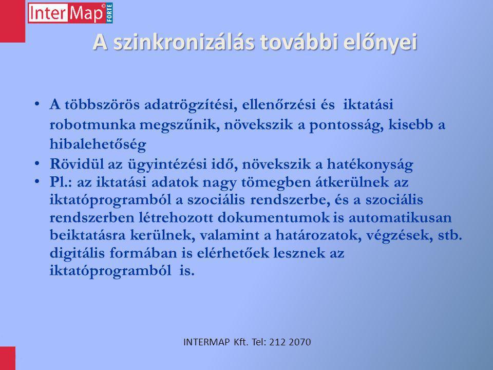 Szinkronizálás önkormányzatoknál INTERMAP Kft. Tel: 212 2070