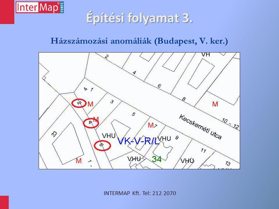 Építési folyamat 4. INTERMAP Kft. Tel: 212 2070 Házszámozási anomáliák (Mohács)