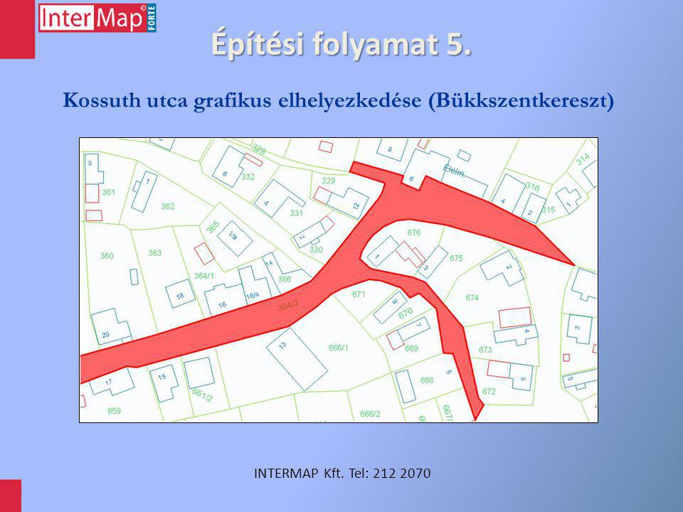 Építési folyamat 6. INTERMAP Kft. Tel: 212 2070 Házszámozási anomáliák (Budapest, VII. ker.)