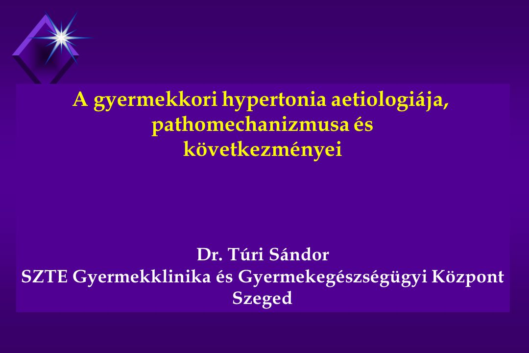 Felnőttkori hypertona gyakorisága: az összlakosság 20 %-a Ennek 80 %-a essentialis hypertonia Oka : 40-50 %-ban genetikai 50 %-ban környezeti Gyermekkori hypertonia gyakorisága a felnőtt hypertoniások 1 %-a (Magyarországon 20 ezer fő) A gyermekkori hypertonia gyakorisági megoszlása Primer essentialis hypertonia 10 % Szekunder hypertonia 90 % veseparenchyma betegség 70 -80 % renovascularis hypertonia 10 % coarctatio aortae 2 % endokrin és egyéb eredetű 8 %
