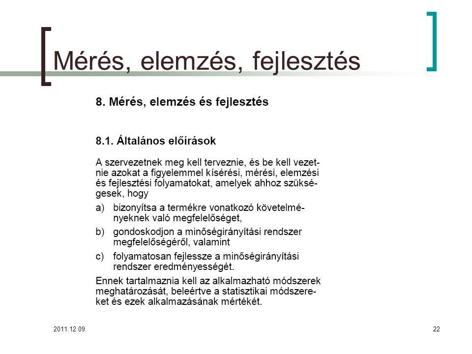 2011.12.09.23 A Parmezán Pizza megtervezte és bevezette azokat a figyelemmel kísérési-, mérési-, elemzési- és fejlesztési folyamatokat, amelyek szükségesek ahhoz, hogy: Bizonyítsa a pizza előállítási és kiszállítási követelményeknek való megfelelést, Gondoskodjon a minőségirányítási rendszer megfelelő és hatékony működéséről, Megvalósítsa a szakmai és a minőségirányítási folyamatok folyamatos javulását, továbbfejlesztését.