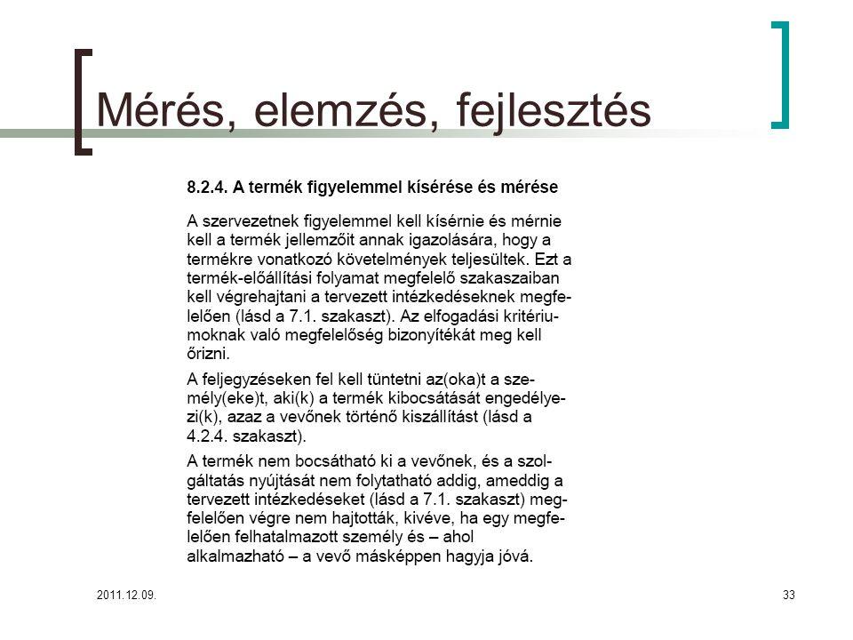2011.12.09.34 Parmezán Pizza- Mérés, elemzés, fejlesztés (8.2.4.) A Parmezán Pizza célja, hogy termékeire, általa nyújtott szolgáltatásaira vonatkozó követelmények maradéktalanul teljesüljenek.