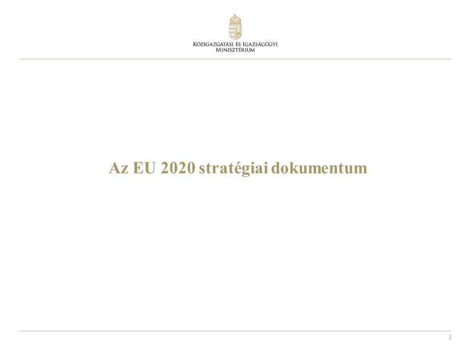4 2020-ra az EU egészének teljesítenie kell az alábbi öt célt: 1.