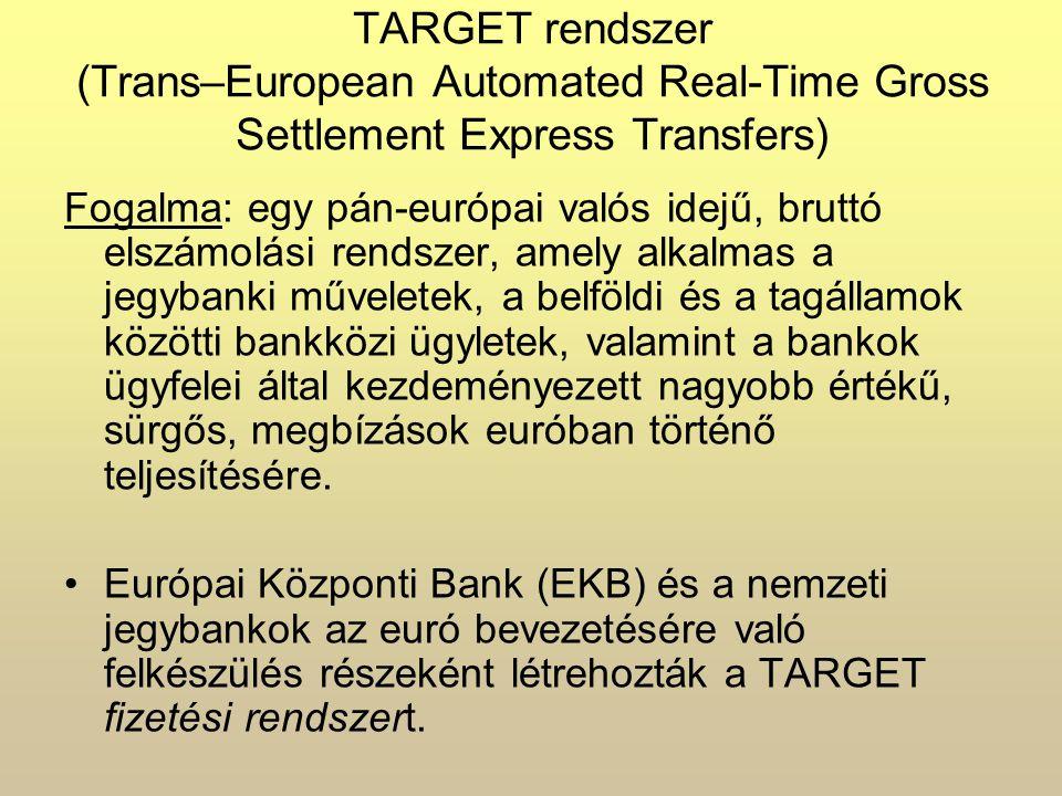 15 tagállam nemzeti, valós idejű, bruttó elszámolási rendszeréből (RTGS - Real Time Gross Settlement System = valós idejű, bruttó elszámolási rendszer),az EKB fizetési mechanizmusából, valamint az ezen rendszereket összekötő távközlési (Interlinking) hálózatból áll.