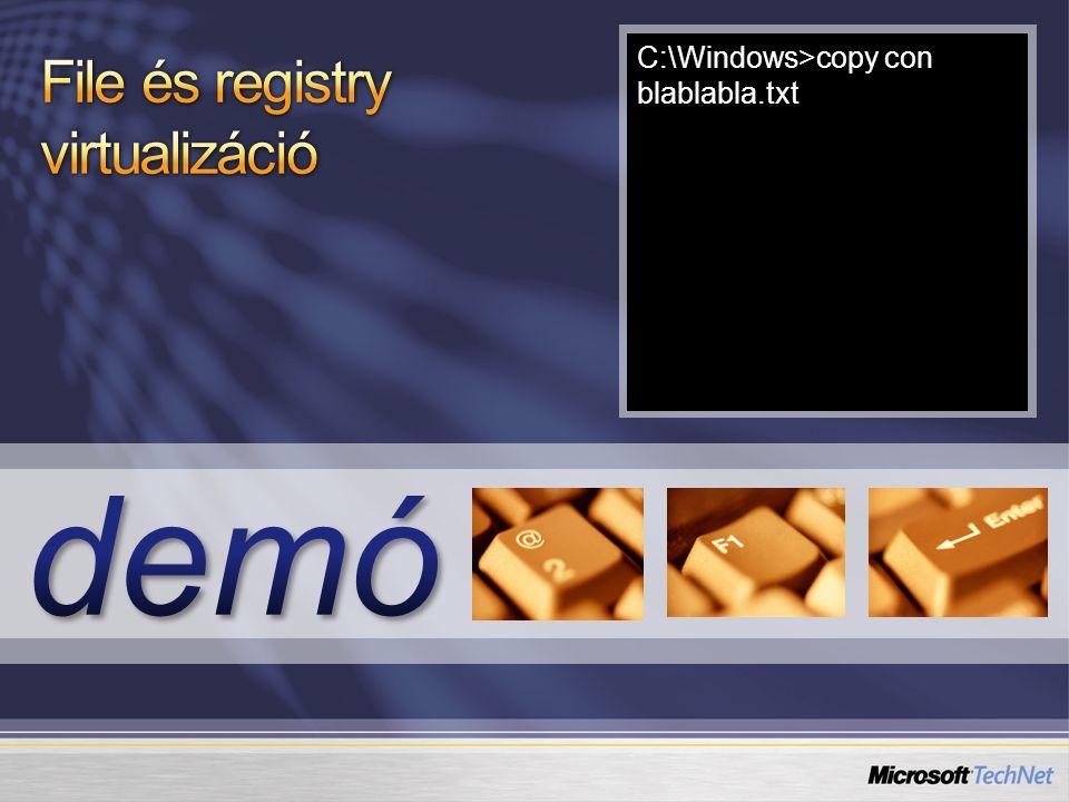 Az USMT teljes dokumentációja: http://technet2.microsoft.com/WindowsVista/en/library/91f62fc4-621f- 4537-b311-1307df0105611033.mspx http://technet2.microsoft.com/WindowsVista/en/library/91f62fc4-621f- 4537-b311-1307df0105611033.mspx Az USMT letöltési helye: http://www.microsoft.com/downloads/details.aspx?FamilyID=799ab28 c-691b-4b36-b7ad-6c604be4c595&DisplayLang=en http://www.microsoft.com/downloads/details.aspx?FamilyID=799ab28 c-691b-4b36-b7ad-6c604be4c595&DisplayLang=en A System Center Configuration Manager 2007 weblapja: http://www.microsoft.com/systemcenter/configmgr/default.mspx