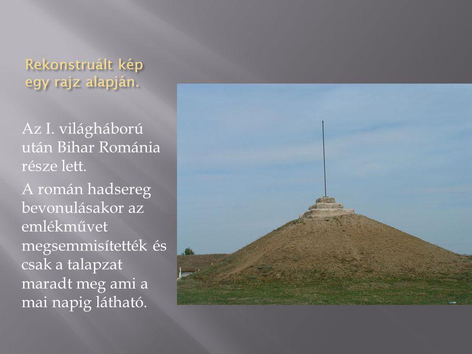 """A """"második Turul szobor 1940-ben a Második bécsi döntés által visszacsatolták Magyarországhoz Észak Erdélyt."""