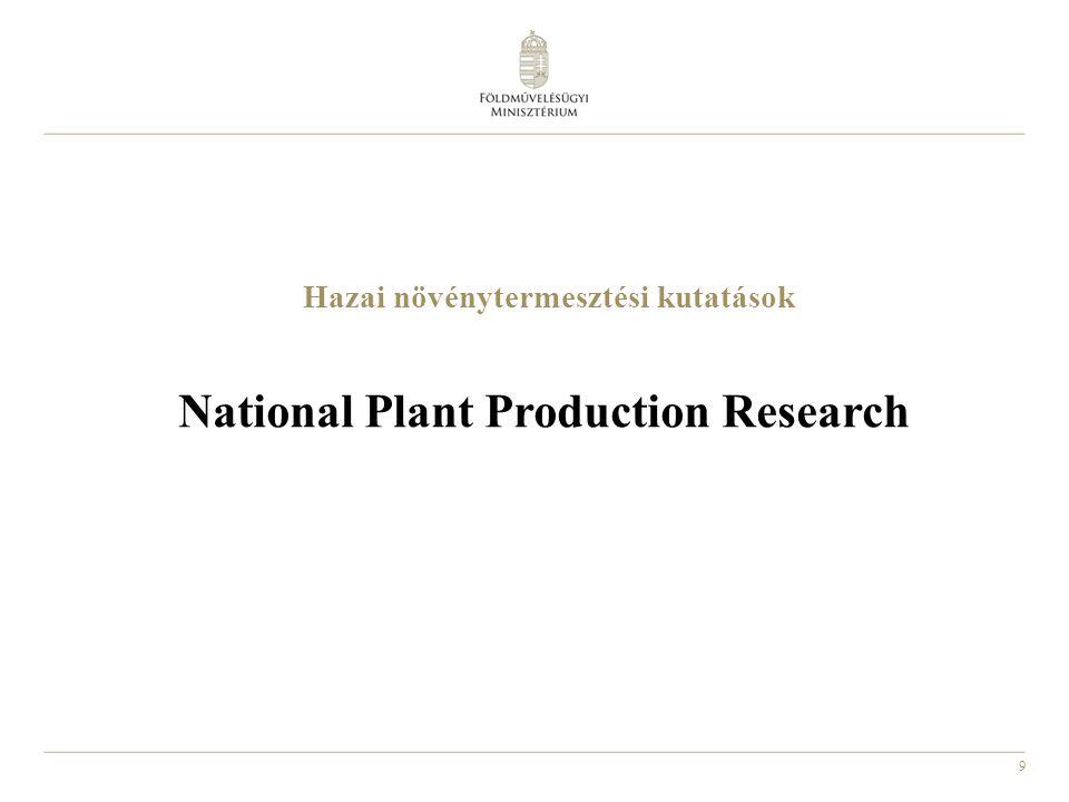 10 Agrár kutatás-fejlesztés Agricultural Research and Development
