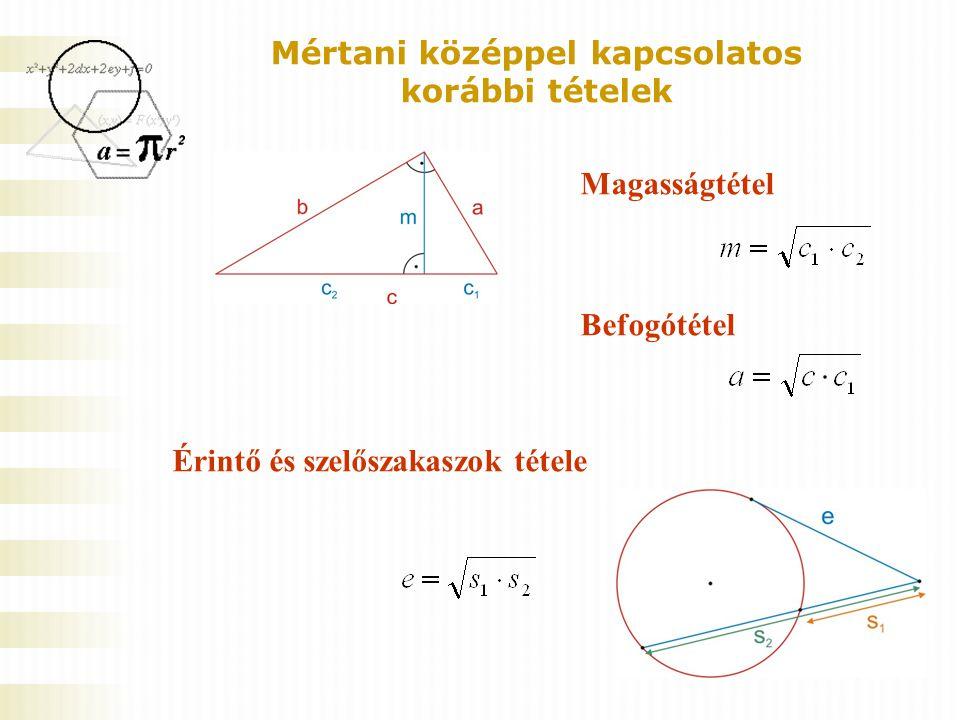 Mintapélda 5 Az ABC háromszög BC oldalának meghosszabbításán levő D pontra igaz, hogy az ABC szög egyenlő CAD szöggel.