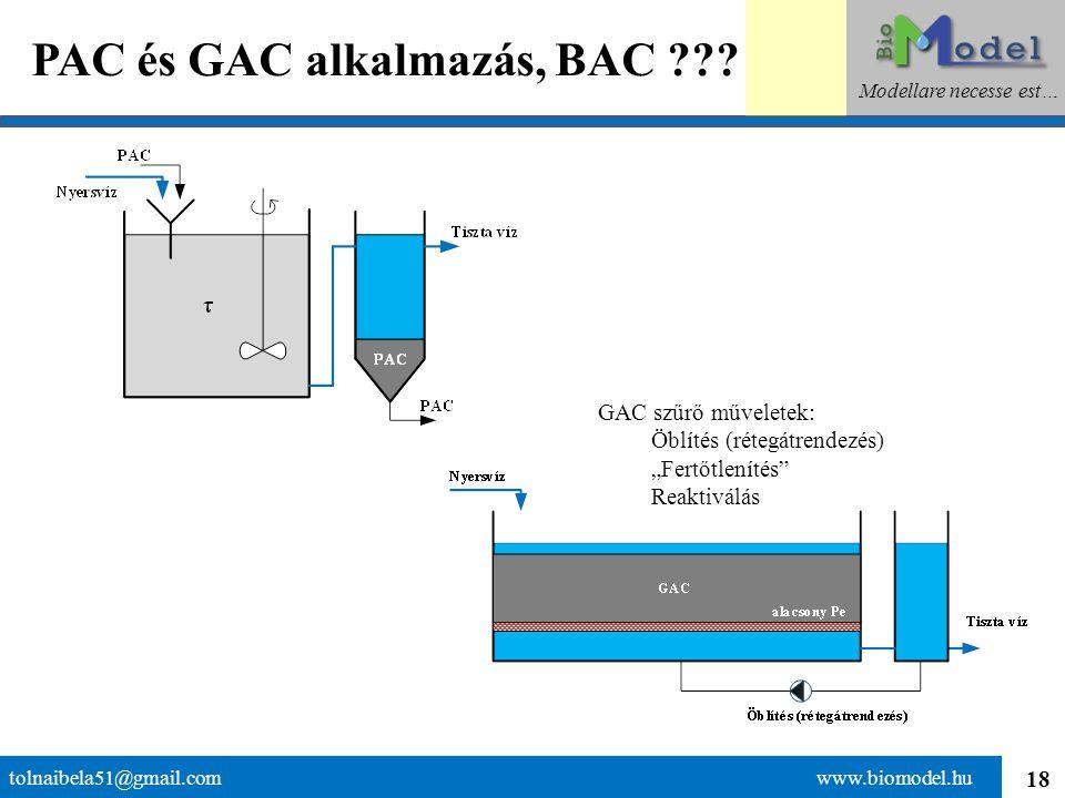 19 Összegzés tolnaibela51@gmail.com www.biomodel.hu Modellare necesse est… A szűrők a szennyezés visszatartására alkalmas berendezések, amelyeknek különböző hatásmechanizmusa lehet.