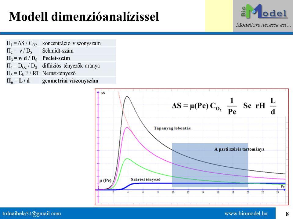9 A Pe-szám értelmezése tolnaibela51@gmail.com www.biomodel.hu Modellare necesse est…