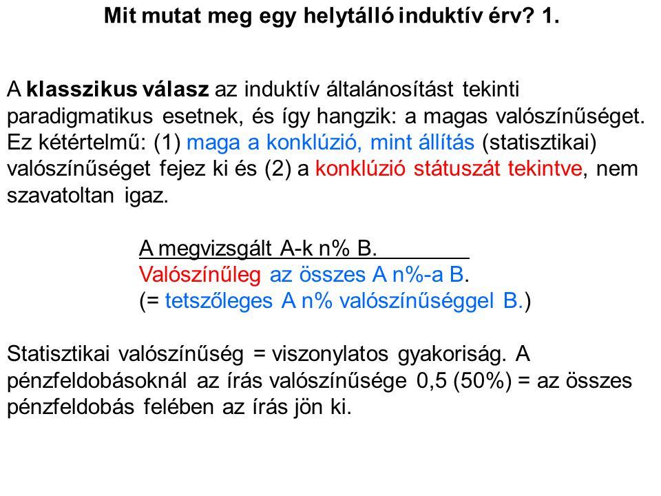 Mit mutat meg egy helytálló induktív érv.2.