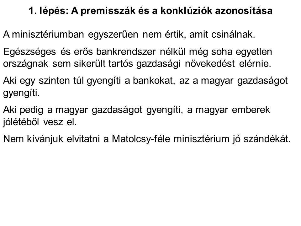 2.lépés: nyelvi egyszerűsítés A minisztériumban egyszerűen nem értik, amit csinálnak.