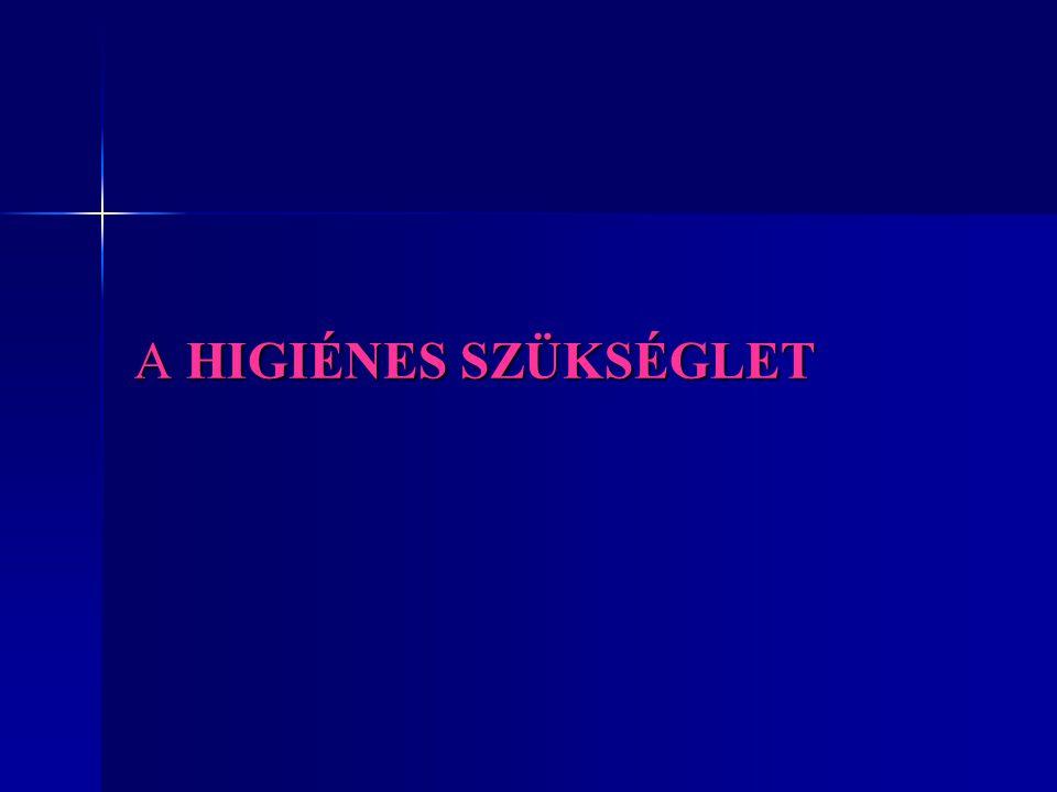 FOGALMA ÉS TERÜLETEI Higienia = görög szó, az egészség megőrzését és a fertőzések megelőzését biztosító tisztaság.