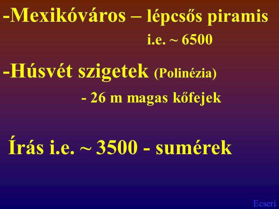 Ecseri -Húsvét-szigetek - Kőfejek