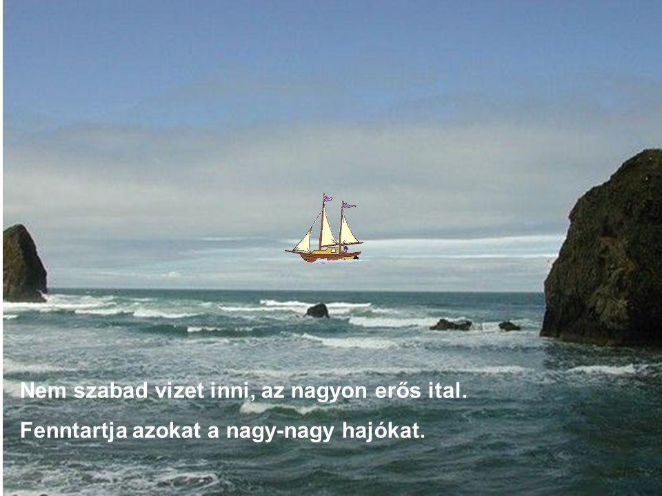 Nem szabad vizet inni, az nagyon erős ital. Fenntartja azokat a nagy-nagy hajókat.
