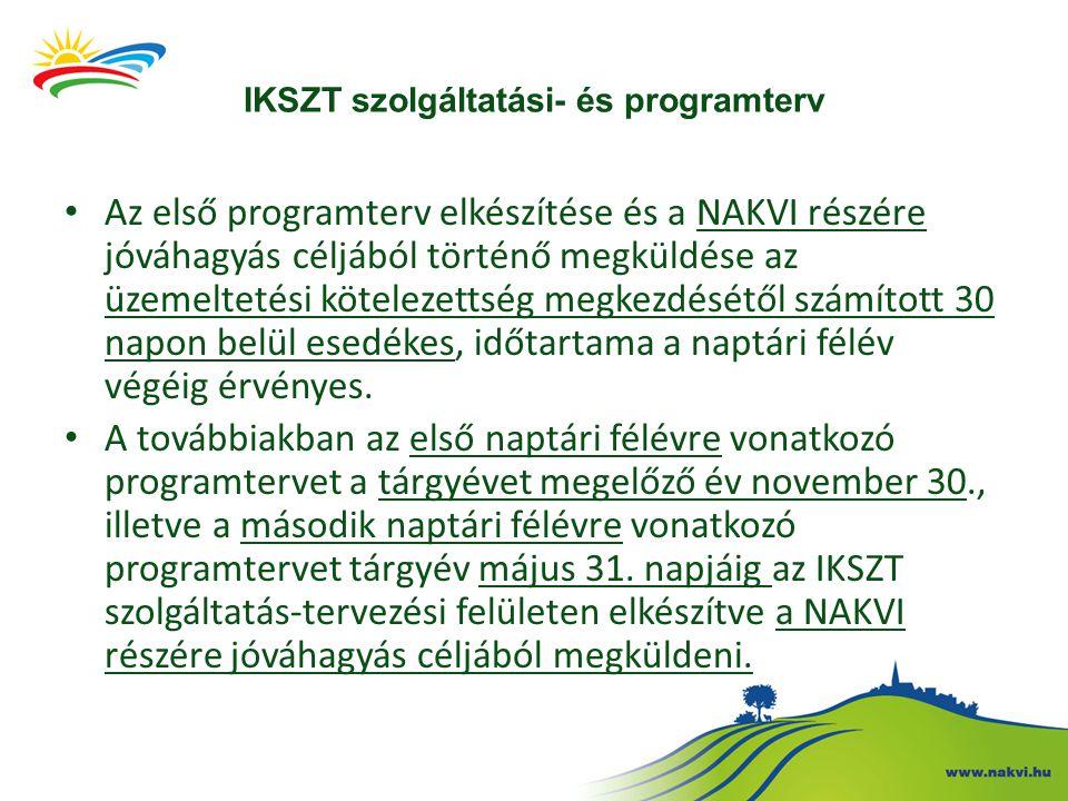 IKSZT szolgáltatási- és programterv A közösségi programok megvalósítása során a programtervtől való eltérés megengedett, azonban eltérés esetén figyelemmel kell lenni a jogcímrendeletben foglalt követelményekre.