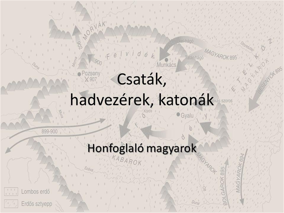 A magyarok hadművészete Egy honfoglaló harcos felszerelései.