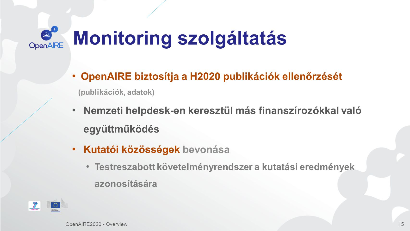 H2020 DATA PILOT OpenAIRE2020 - Overview16