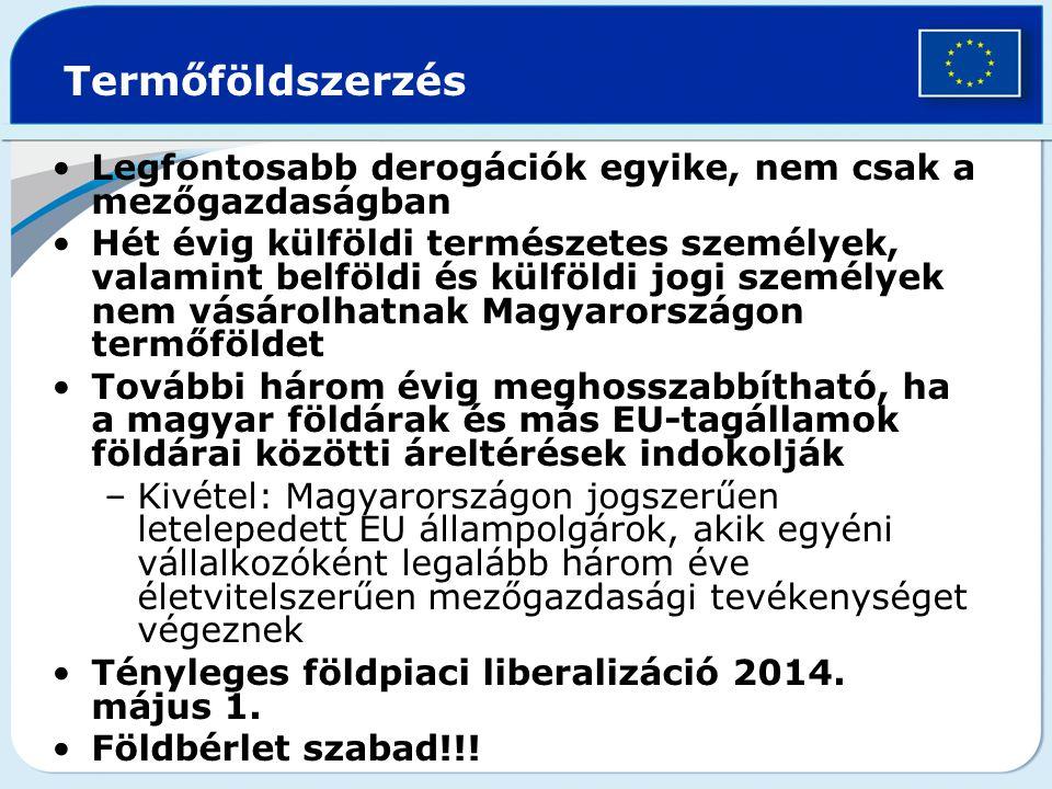 A KAP működése Magyarországon Koppenhágai megállapodás, 2002.
