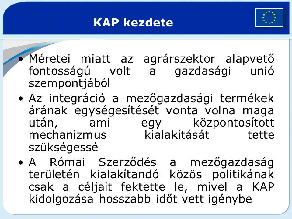 KAP céljai (EUMSz 39.