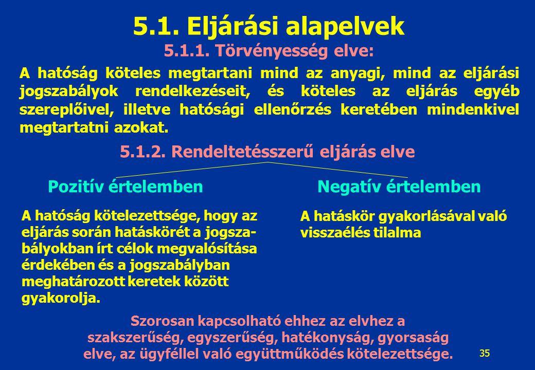 36 5.1.Eljárási alapelvek 5.1.3.
