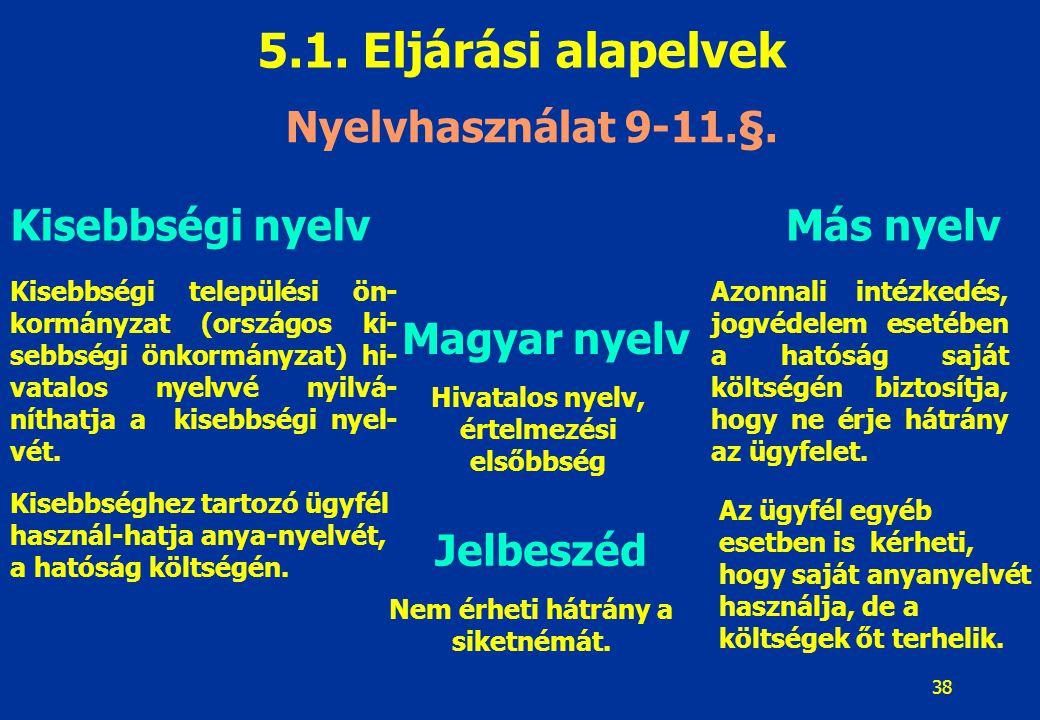 39 5.1.Eljárási alapelvek 5.1.6.
