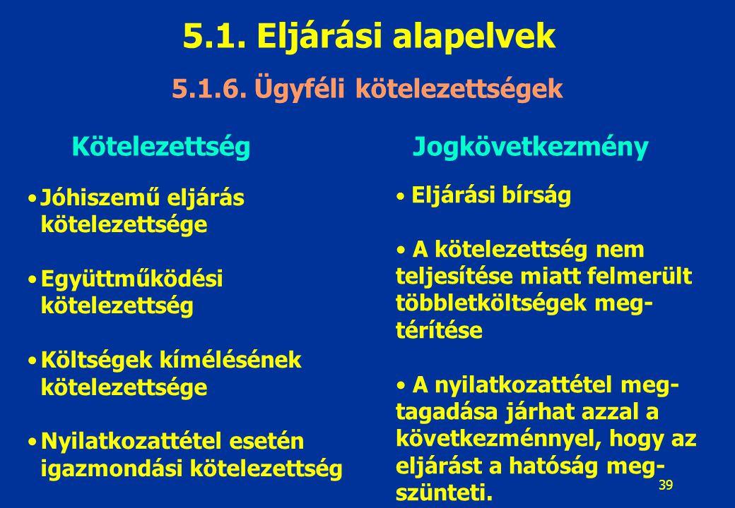 40 5.1.Eljárási alapelvek 5.1.7.