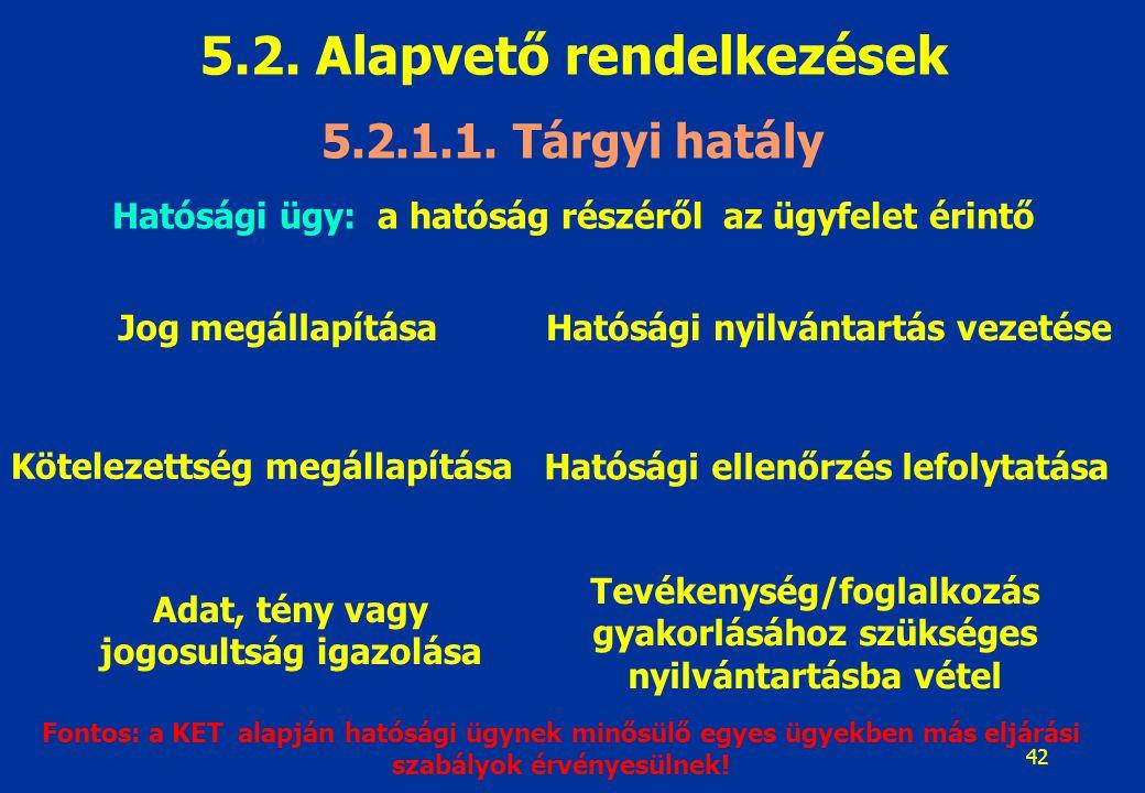 43 5.2.Alapvető rendelkezések 5.2.1.1.