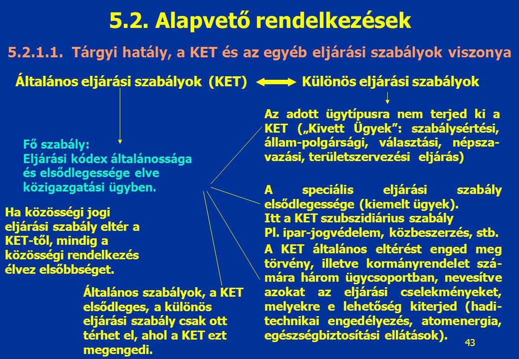 44 5.2.Alapvető rendelkezések 5.2.1.2.